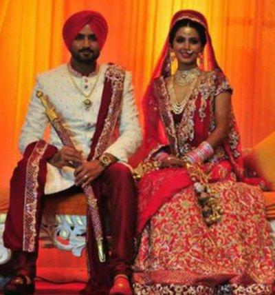 Harbhajjan Singh and Geeta Basra.jpg