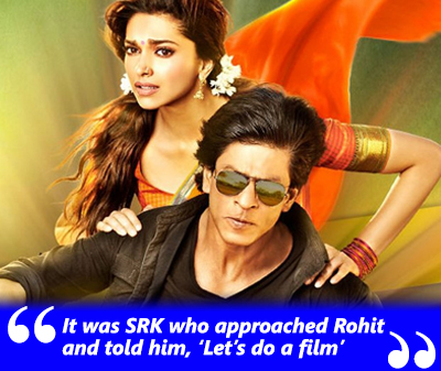 It was SRK who approached Rohit and told him, 'Let's do a film'- Shah Rukh Khan and Rohit Shetty- Chennai Express.jpg