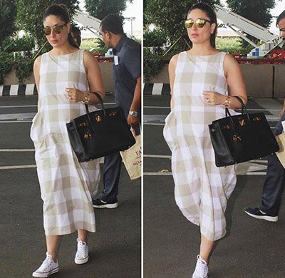 Kareena Kapoor Khan a checked Bhane dress.jpg