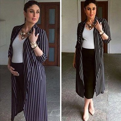 Kareena Kapoor Khan in a striped outfit during her pregnancy.jpg