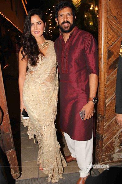 Katrina Kaif and Kabir Khan at Amitabh Bachchan Diwali Bash 2016.jpg