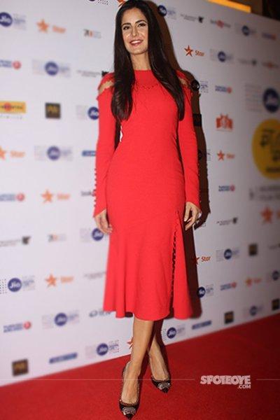 Katrina Kaif in her red dress in Jio MAMI film festival.jpg