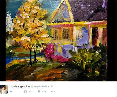 Lata Maneshkar granddaughter Saanjali  gifted painting.jpg