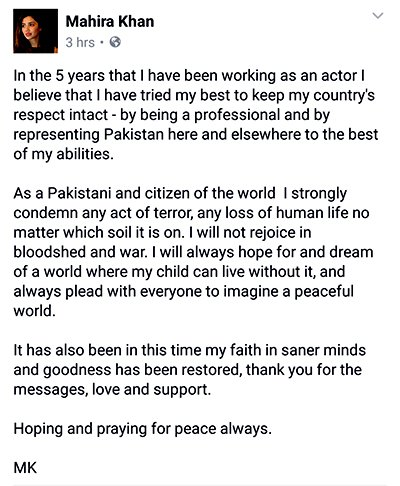 Mahira Khan Post On Facebook.jpg