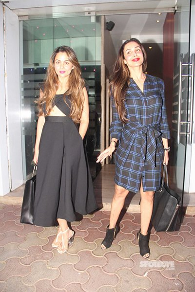 Malaika Arora and Amrita Arora snapped Karva Chauth together.jpg