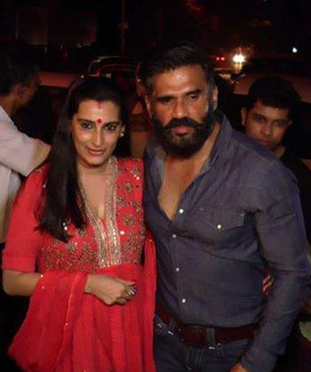 Mana Shetty and Suniel Shetty at the Karwa Chauth party.jpg