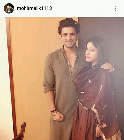 Mohit Malik and Aditi Shirwaikar celebrate Karva Chauth 2016.jpg