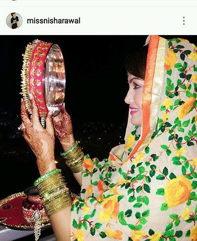 Nisha Rawal celebrates Karva Chauth 2016.jpg