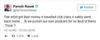 Image result for paresh rawal tweets