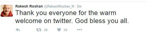 Rakesh Roshan joins twitter.jpg