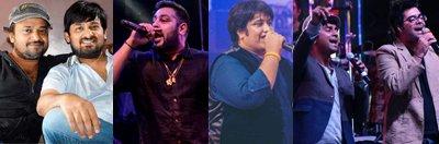 Sajid-Wajid, Rapper Badshah, Divya Kumar and Sachin Jigar .jpg