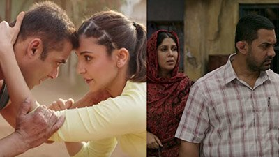 Salman Khan and Anushka Sharma in Sultan , Shakshi Tanwar and Aamir Khan in Dangal.jpg