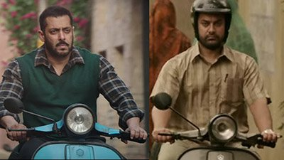Salman Khan in Sultan and Aamir Khan in Dangal on bikes.jpg