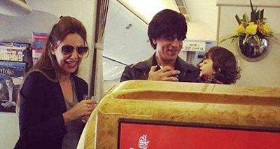 Shah Rukh Khan, Gauri Khan and AbRam.jpg