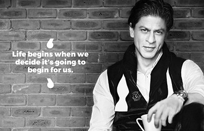 Shah Rukh Khan inspirational quotes - Life begins when we decide it's going to begin for us..jpg