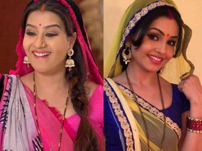 Shilpa Shinde and Shubhangi Atre in Bhabaji Ghar Par Hai Show.jpg