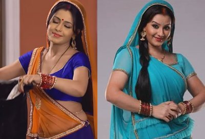 Shubhangi Atre and Shilpa Shinde In The Serial Bhabaji Ghar Par Hai.jpg