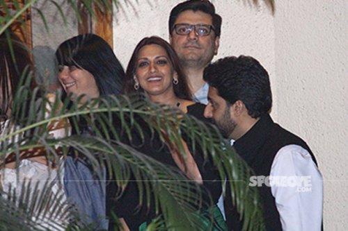 Sonali Bendre and Goldie Bhel at Aishwarya Rai Bachchan 43rd Birthday.jpg