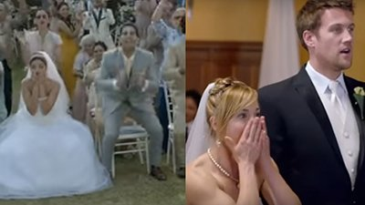 Suprised expressions of the brides at the weddings - Rock On 2 and Sugar by Maroon.jpg