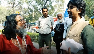 Swami Omji Giving Death Threats and Calling environmental activist, Vimlendu Jha Terrorist- CIA Agent and Anti National.jpg