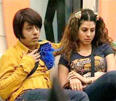 Tanaaz Irani with designer Rohit in The Bigg Boss House.jpg