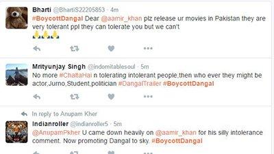 Twitter Users Tweeting On Dangal Movie -Aamir Khan.JPG