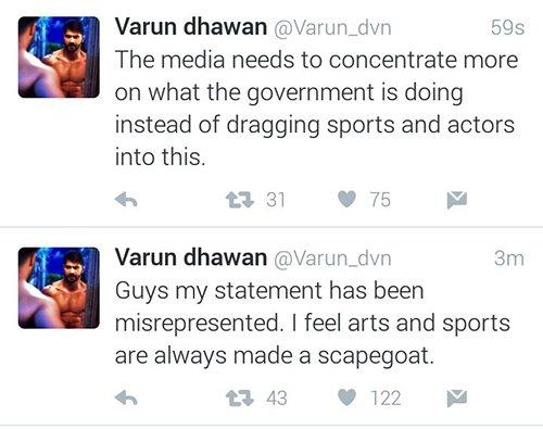 Varun Dhawan tweets on a controversial topic.jpg