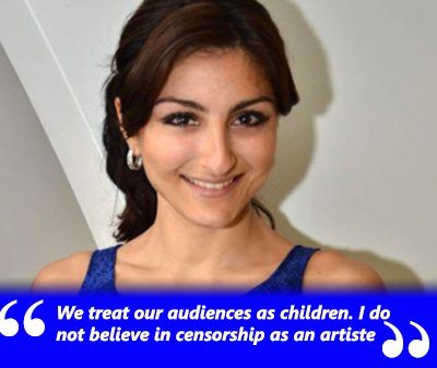 We treat our audiences as children. I do not believe in censorship as an artiste.jpg