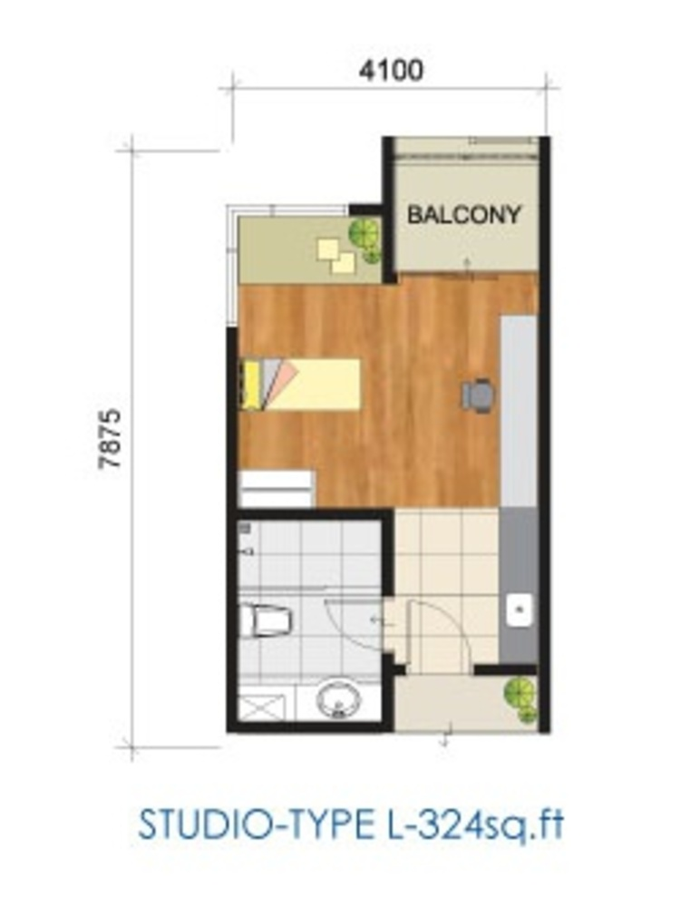Studio type floor plan almandine apartments glasgow for Studio type plan
