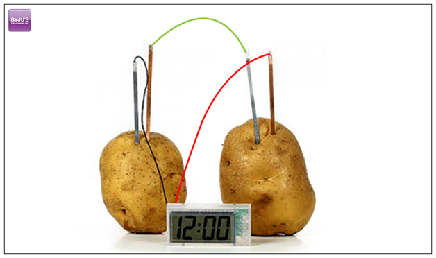 battery from potato Or alternative energy and food, to be literal about it from the website: i built  a potato battery out of 500 pounds of potatoes it powered a.