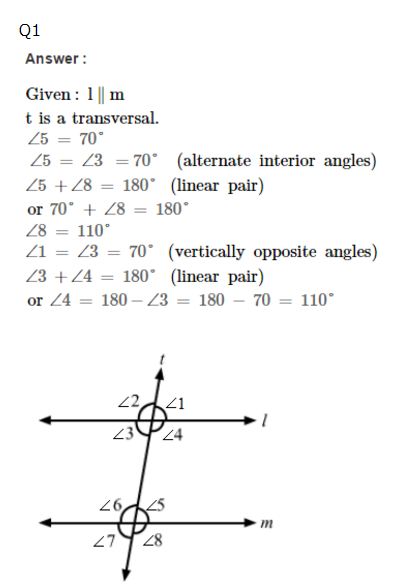 Parallel Lines Cut By A Transversal Worksheet 8Th Grade Worksheets ...