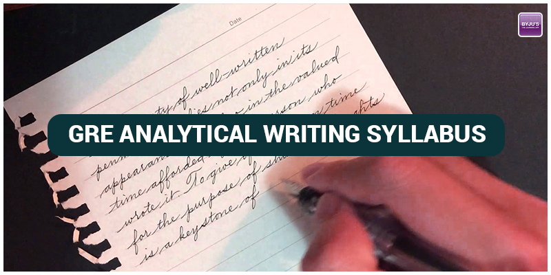 GRE Analytical Writing Syllabus