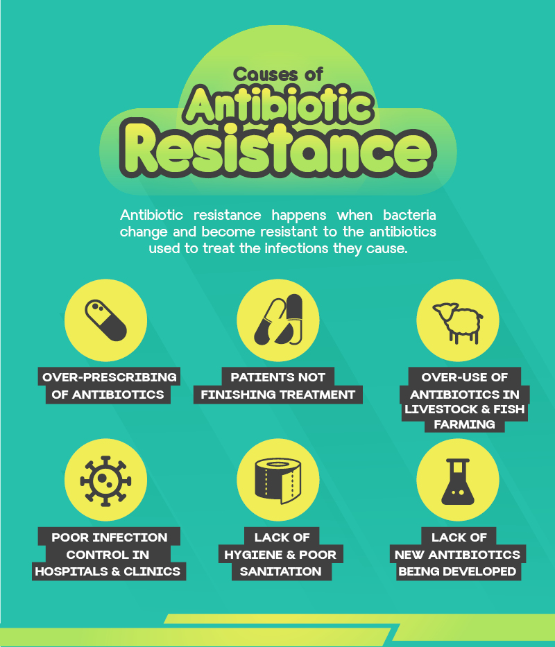"""the development of antibiotic resistance Dwindling resources last year, the united nations raised the issue of antibiotic-resistant bacteria to crisis level, calling the situation """"a fundamental, long-term threat to human health."""