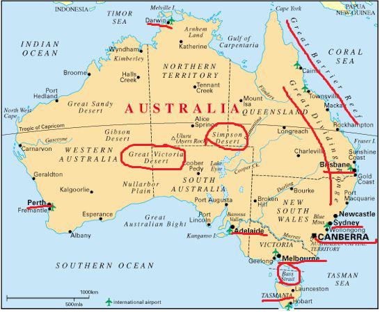 Australia Maps Printable Maps Of Australia For Download Australia - Map of western australia with cities