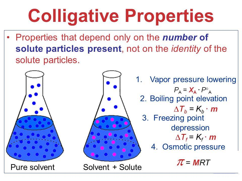 collegative properties essay Colligative properties are based on ideal solutions since you are working with  real solutions (where particle size and imf are not neglibigle).