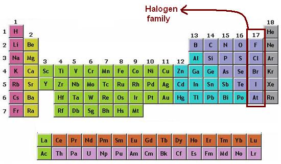 Halogen Group  Properties
