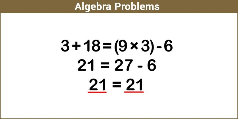 Math sample problems