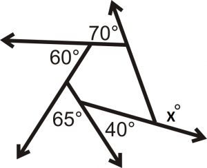 how to find the interior angle of a iregular polygon
