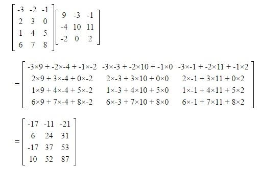 Multiplication of Matrices - Scalar and Vector, Rules & Examples