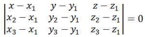 Equation of Plane – Intercept Form