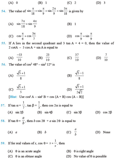 Chapter 3 – Trigonometric Functions