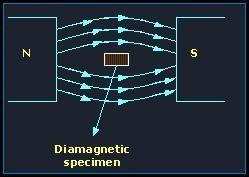 behavior of a diamagnetic substance in a magnetic field