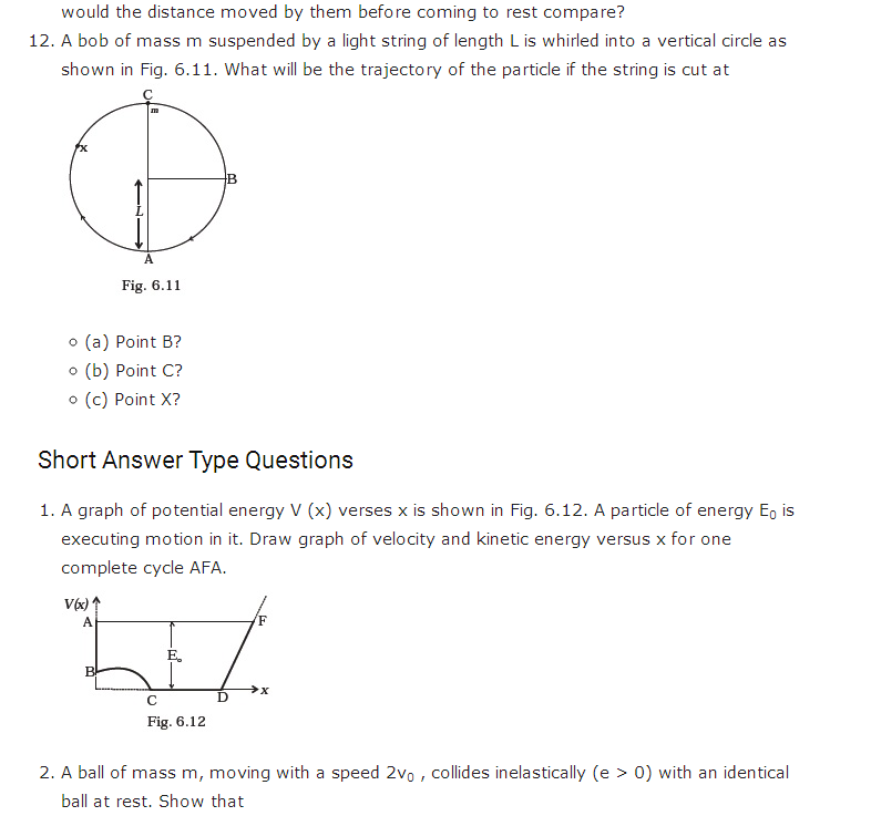 Important questions for class 11 Physics Chapter 5 Work ...