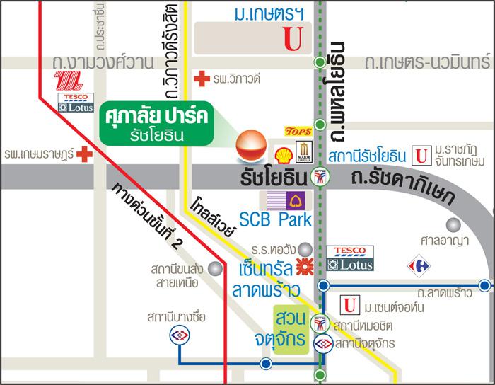 แผนที่-คอนโด-ศุภาลัย-ปาร์ค-รัชโยธิน-SUPALAI-PARK-RATCHAYOTIN
