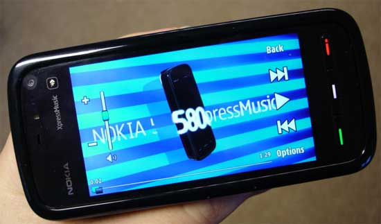 nokia 5800 xpressmusic Edition display