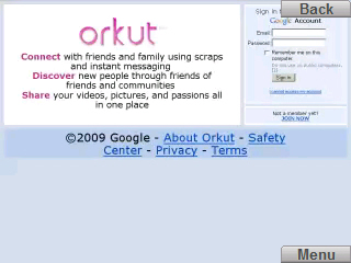 blocked orkut accessed via skyfire