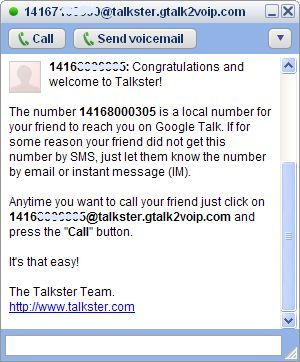 invite confirmation in Gtalk2voip in talkster