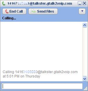 call a phone number using Talkster