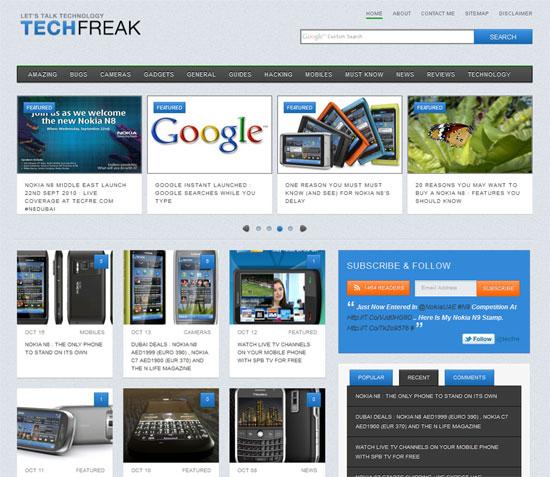 Tecfre.com Redesigned