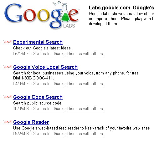google labs website